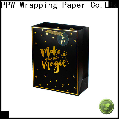 PPW hot selling kraft paper bags wholesale for birthday