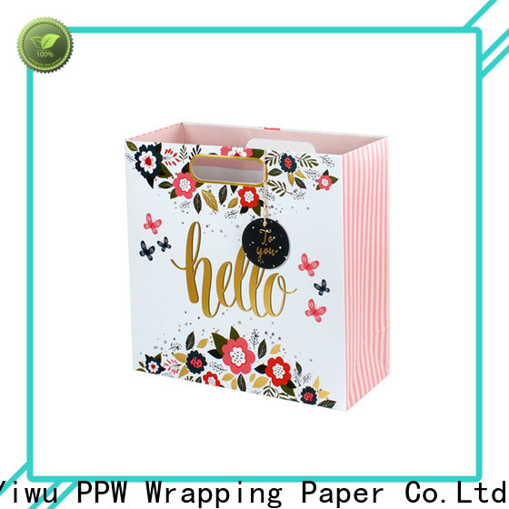 PPW custom christmas bags wholesale for birthday