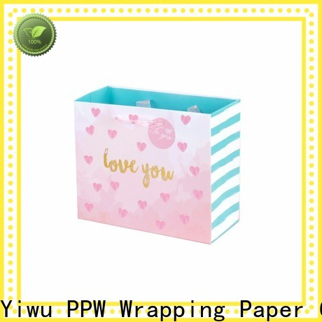 PPW quality paper bags with handles supplier for wedding