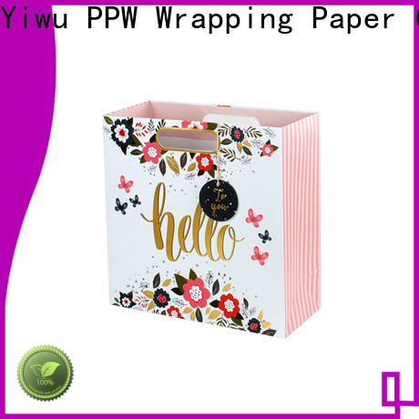 PPW hot selling paper gift bags factory price for birthday