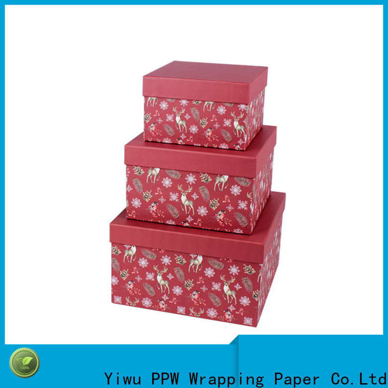 PPW hot selling small cardboard boxes on sale for festival