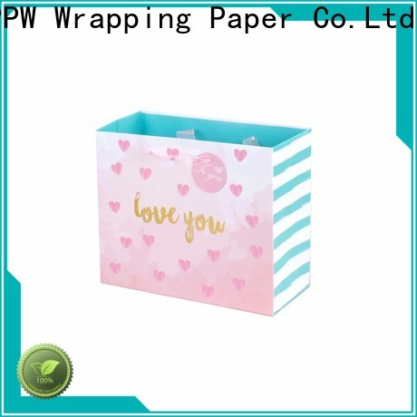 PPW quality paper shopping bags personalized for advertising