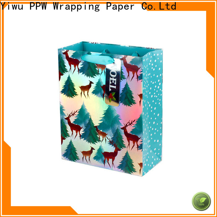 PPW hot selling black gift bags supplier