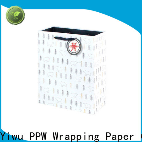 PPW black gift bags factory price for wedding