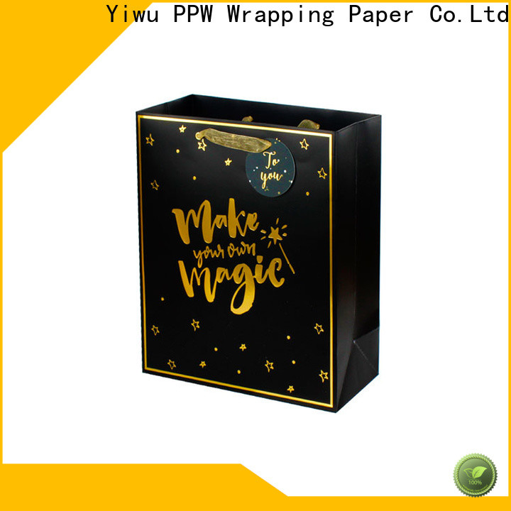hot selling black gift bags supplier for wedding