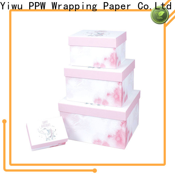 PPW cardboard packaging supplier for birthday