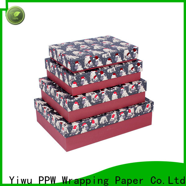 PPW top quality birthday gift box supplier for Christmas