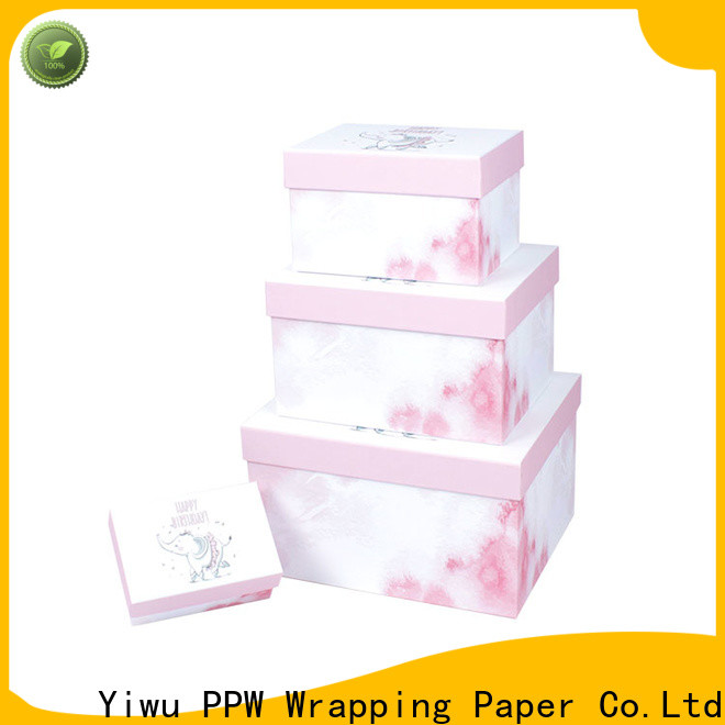 PPW custom gift boxes supplier for birthday