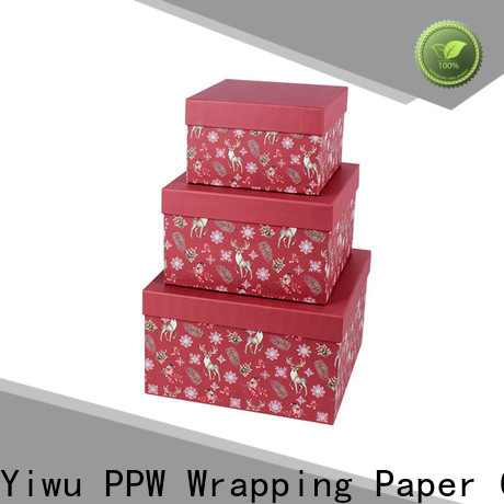 PPW cost-effective cardboard gift boxes wholesale for Christmas