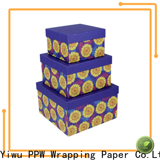 PPW top quality gift box with lid manufacturer for Christmas