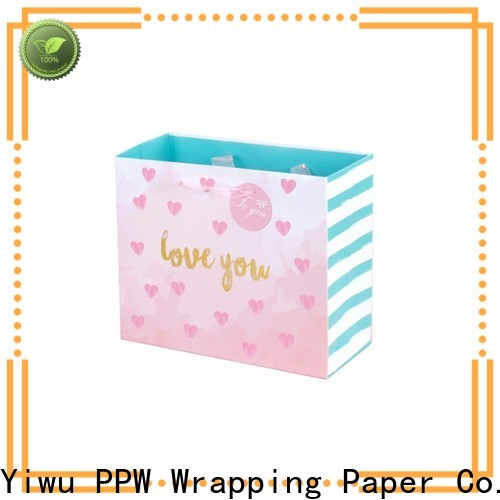 PPW paper shopping bags personalized for advertising