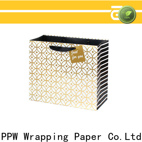 PPW paper shopping bags factory price for advertising