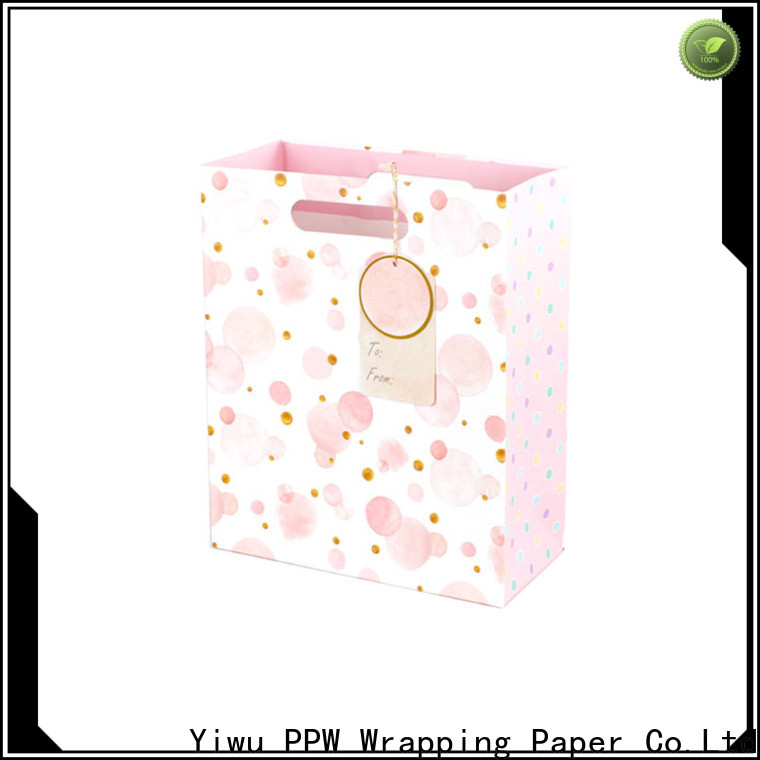 PPW black gift bags personalized for advertising