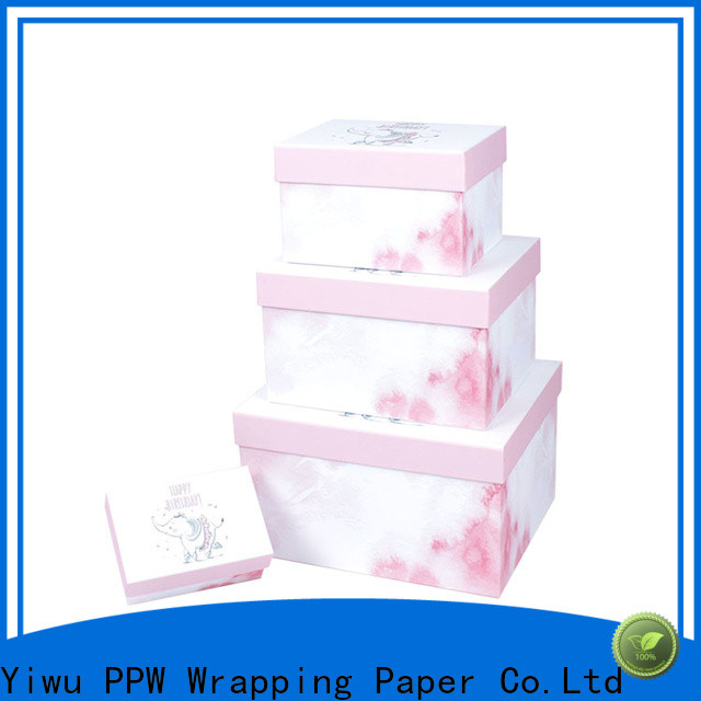 PPW top quality custom gift boxes wholesale for Christmas