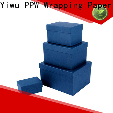 PPW gift box with lid manufacturer for Christmas