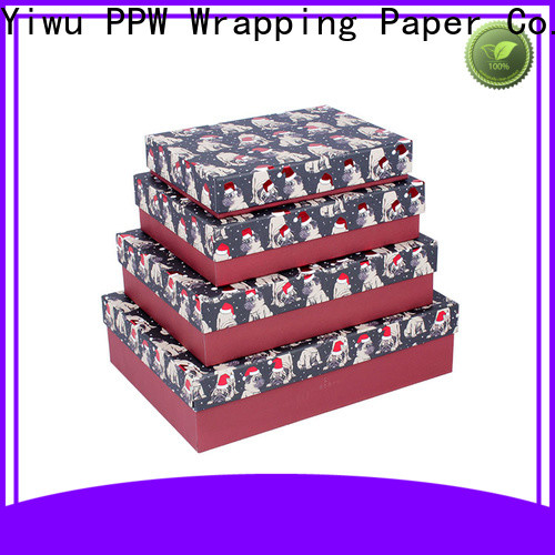 PPW gift box with lid on sale for Christmas