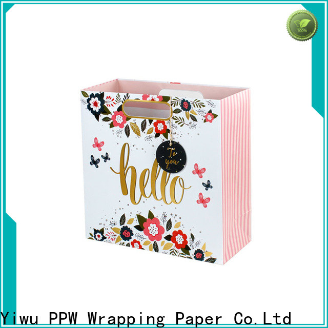 PPW paper bags with handles personalized