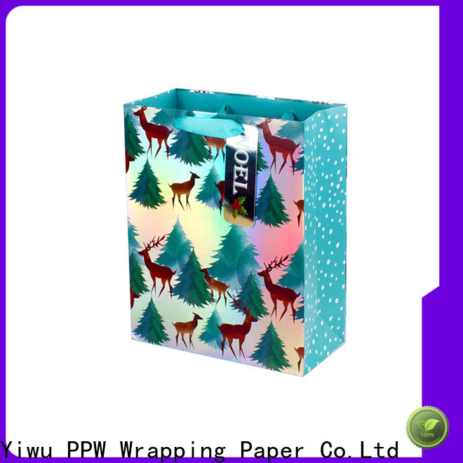 PPW quality black gift bags supplier for festival