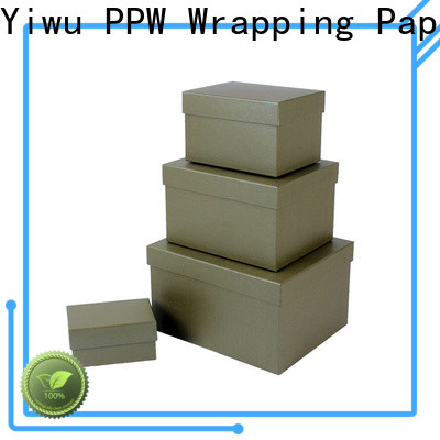 PPW hot selling gift box with lid supplier for festival