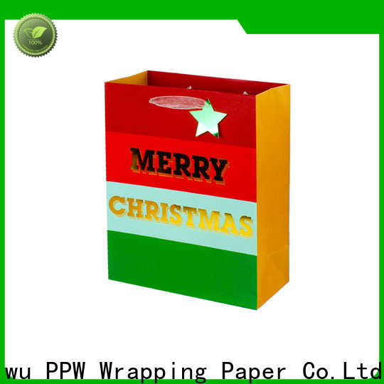 PPW white gift bags supplier for birthday