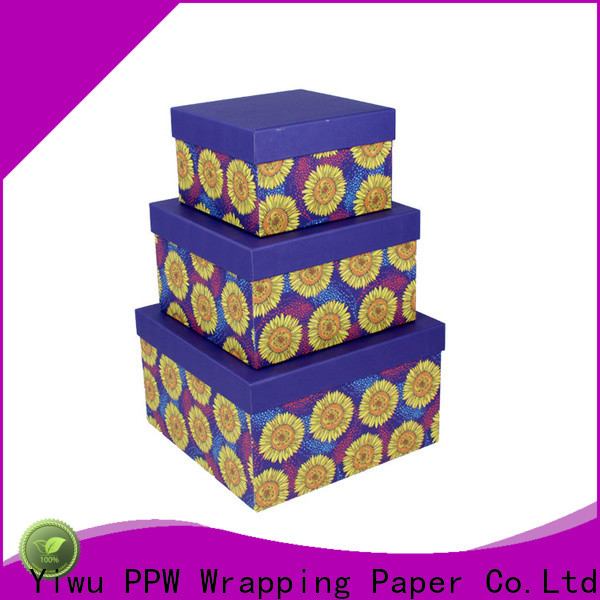 PPW hot selling round box manufacturer for Christmas