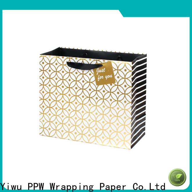 PPW hot selling small paper bags personalized for advertising