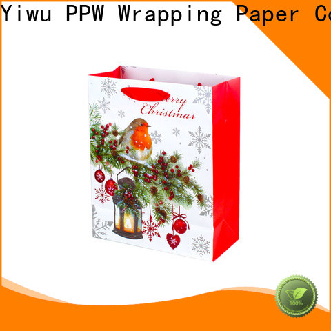 PPW paper gift bags factory price for birthday