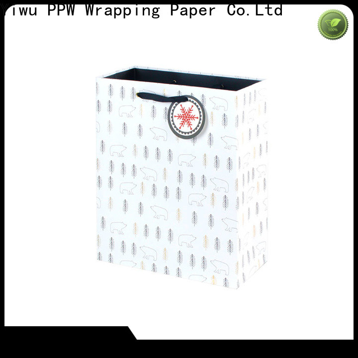 PPW christmas gift bags supplier for advertising