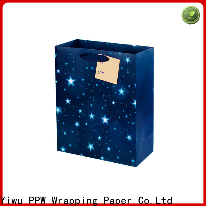 PPW paper bags with handles supplier for birthday