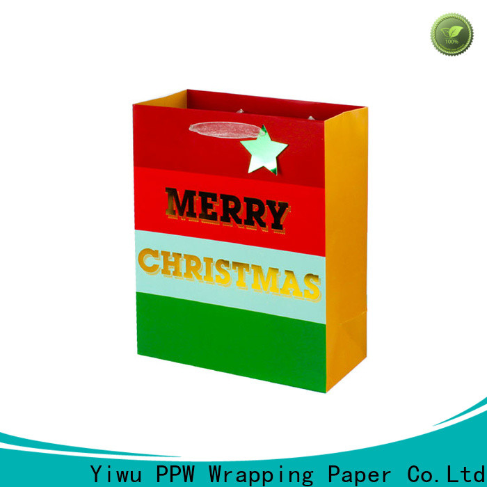 PPW christmas gift bags supplier for festival