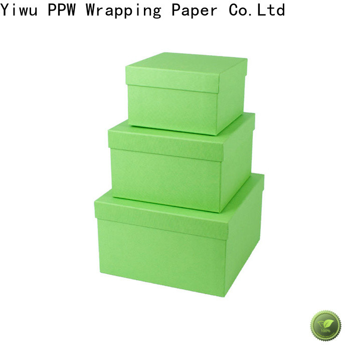 PPW top quality folding box manufacturer for festival