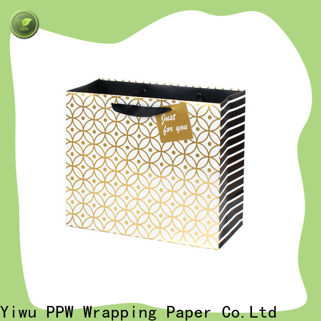 PPW black gift bags wholesale for advertising