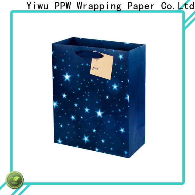 PPW custom christmas gift bags supplier