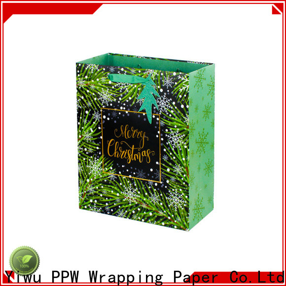 PPW hot selling paper gift bags supplier for festival