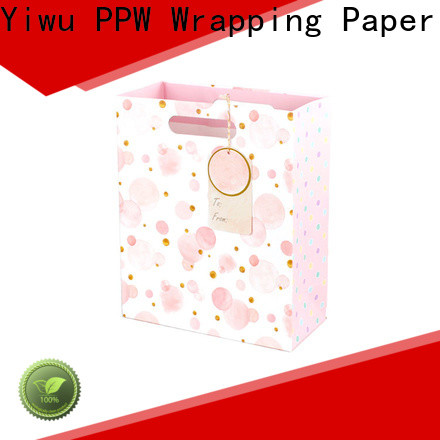 PPW custom black gift bags factory price for wedding