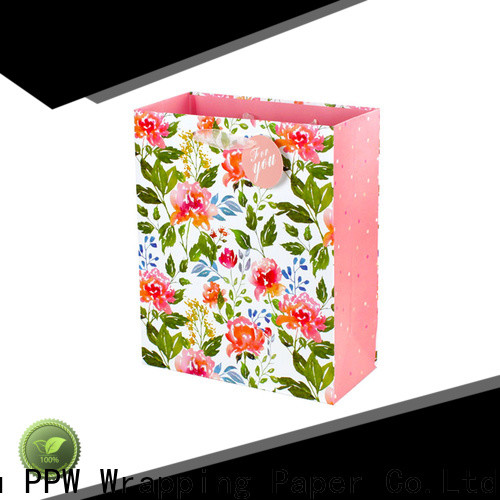 PPW paper bags with handles factory price for birthday