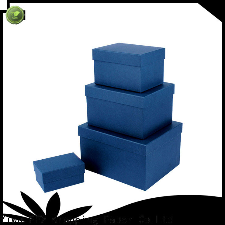 PPW eco-friendly gift box with lid supplier for Valentine