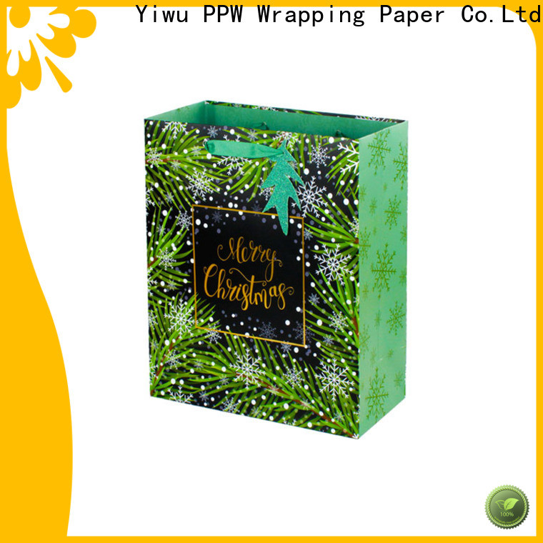 PPW white gift bags factory price for advertising