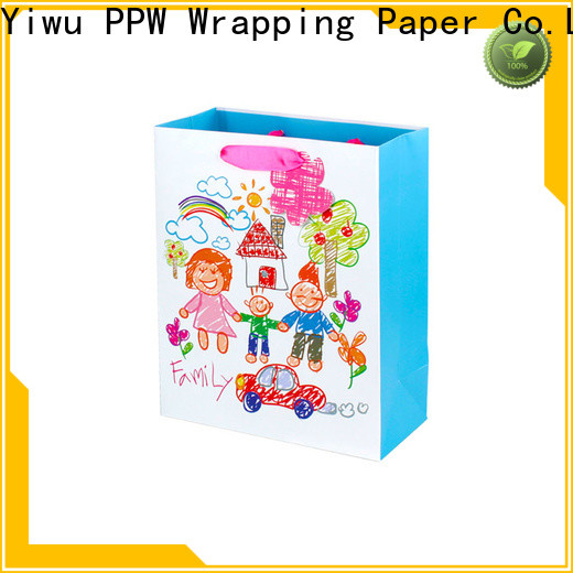 PPW paper shopping bags factory price for birthday