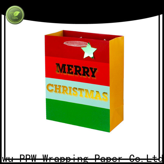 PPW hot selling white gift bags factory price for festival