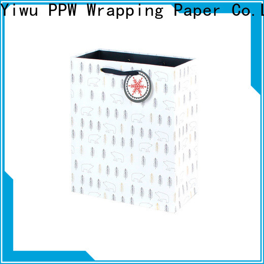 PPW professional white gift bags factory price