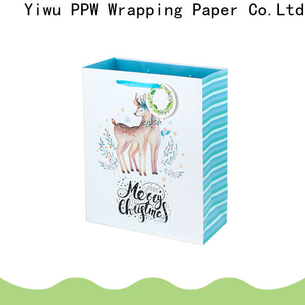 PPW hot selling christmas gift bags factory price for birthday