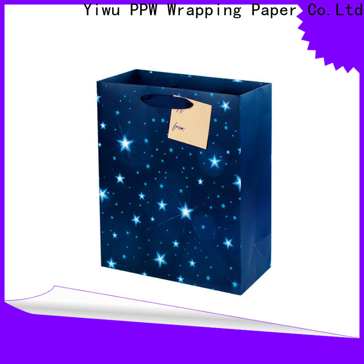 PPW white gift bags wholesale for wedding