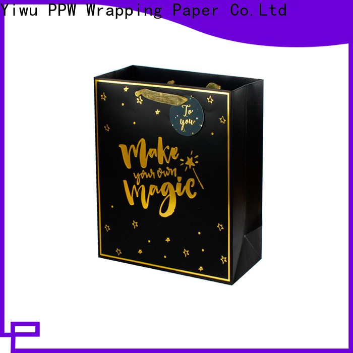 PPW quality kraft paper bags supplier for birthday