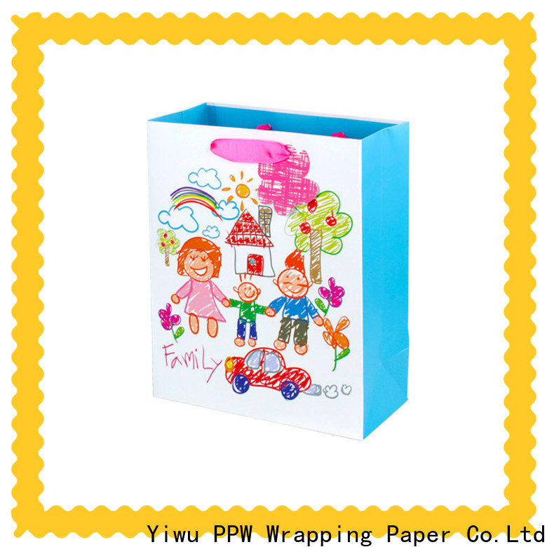 PPW paper shopping bags wholesale for wedding