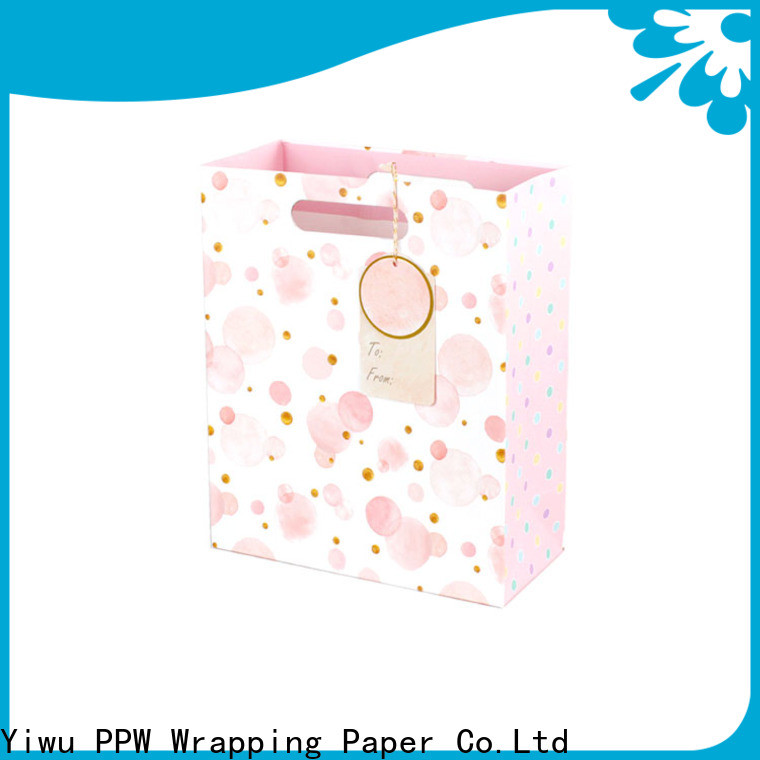 PPW popular white gift bags personalized for wedding