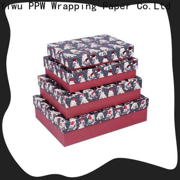 PPW custom custom gift boxes wholesale for Christmas