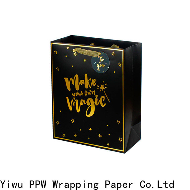 PPW black gift bags personalized for wedding