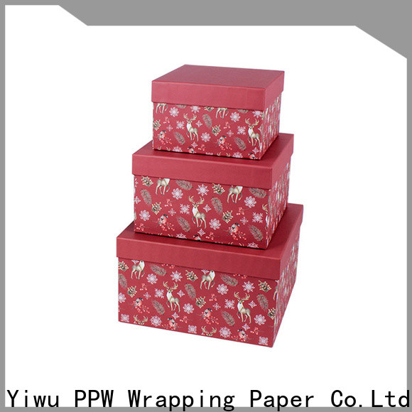 PPW top quality custom packaging boxes manufacturer for birthday