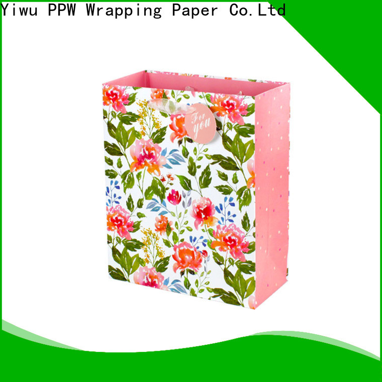 PPW professional paper gift bags supplier for festival